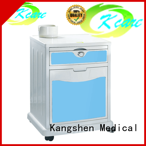 night stand rolling hospital style bedside tray table high-quality for customization Kangshen Medical