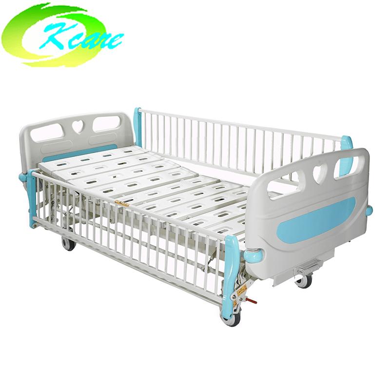 Kangshen Medical Central Lock Castor Manual 2-Cranks Hospital Children Bed KS-S201et Hospital Beds for Children image19