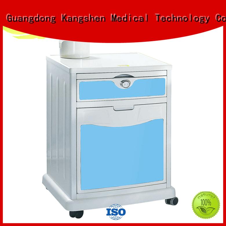 Kangshen Medical bedside hospital bedside table with drawers for customization