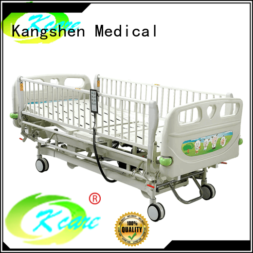 Kangshen Medical with wheels hospital baby crib folded steel dining table