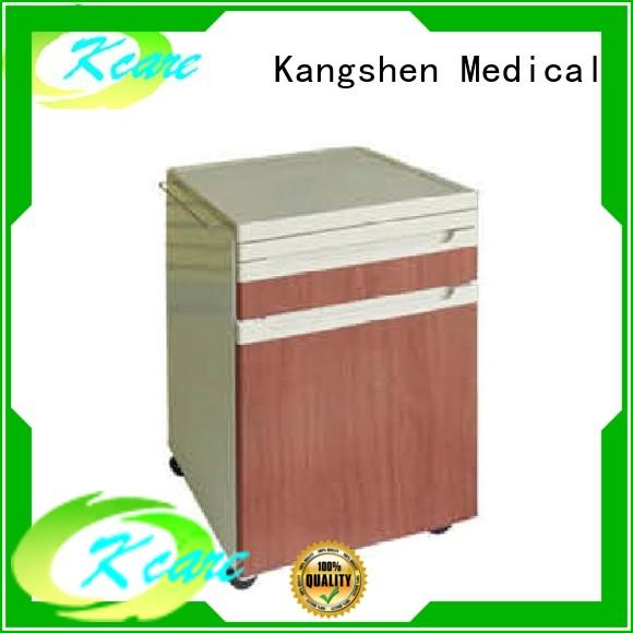 Kangshen Medical hospital bedside table with drawers hospital for wholesale