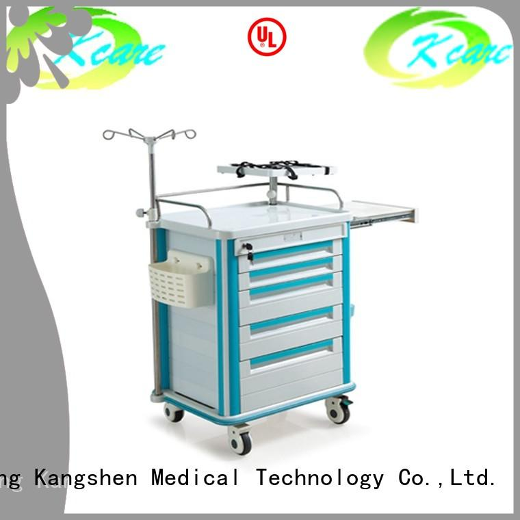 abs trolley cart treatment Kangshen Medical Brand medical trolley with drawers supplier