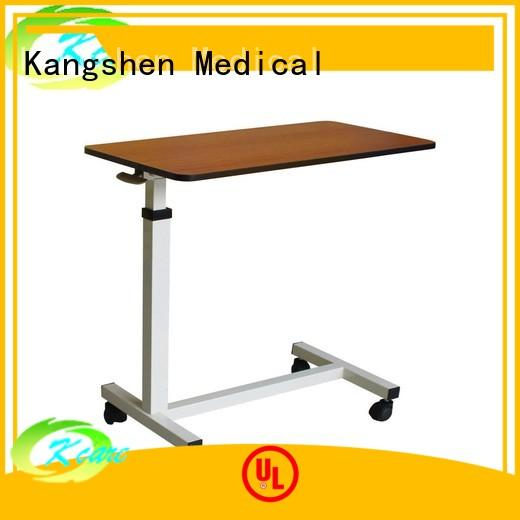 Kangshen Medical popular medical overbed table top quality dining table