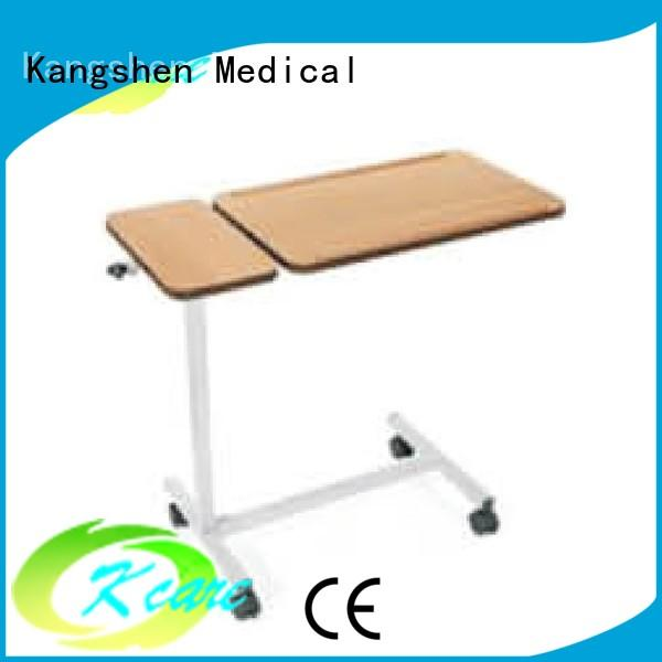 popular hospital bed table with storage medical equipment dining table Kangshen Medical