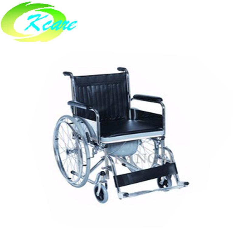 Manual Cheapest WheelChair With Commode for Paralyzed Patient KS-D601