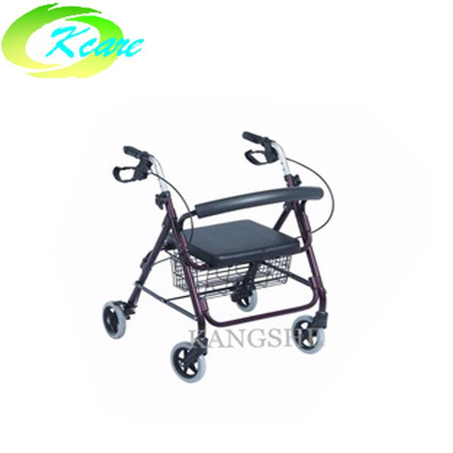 Deluxe Manual Aluminum Rollator Walker For Disabled Person KS-D862L