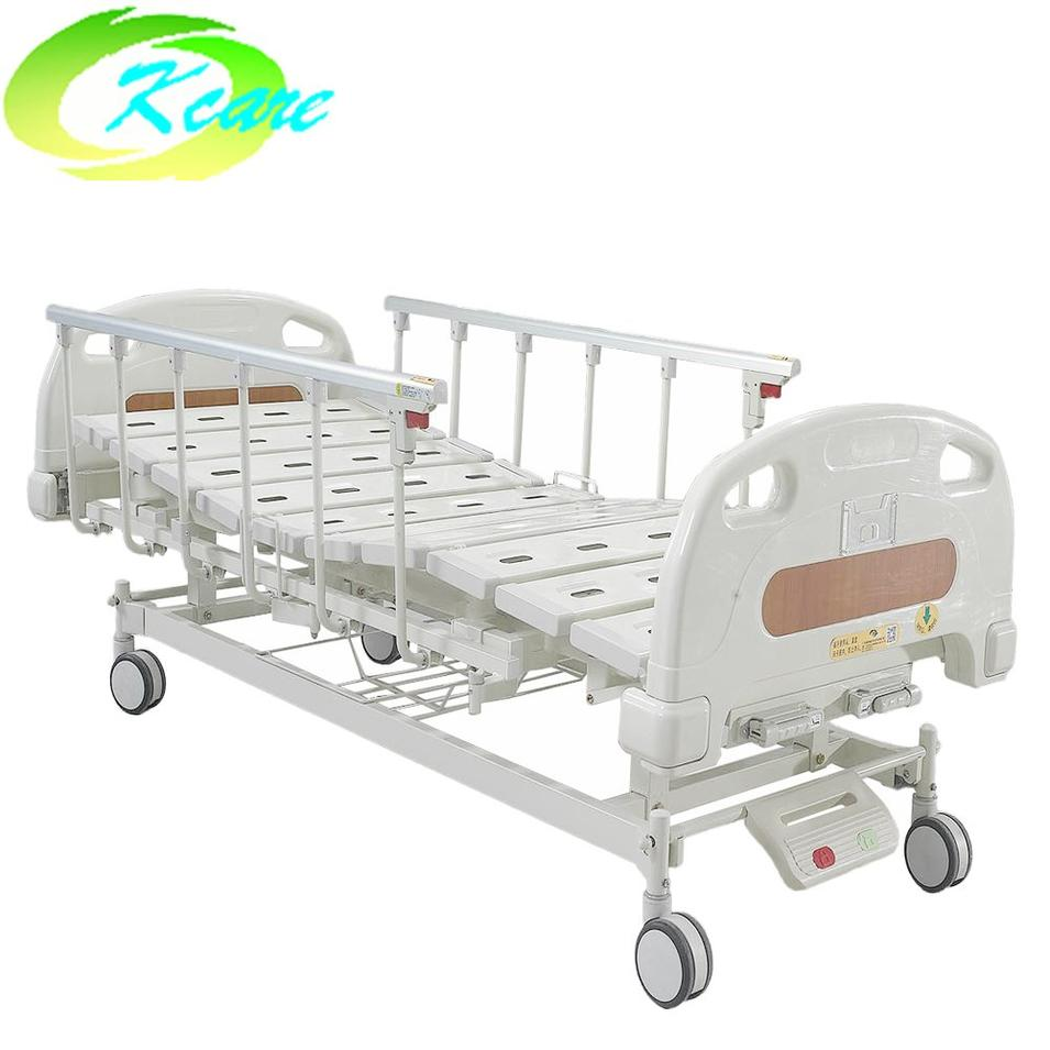 Double Functions Manual Medical Bed for Hospital with 125mm Castors KS-S207yh