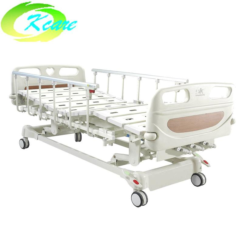 3 Cranks Manual Hospital Bed ICU Patient Bed KS-S301yh