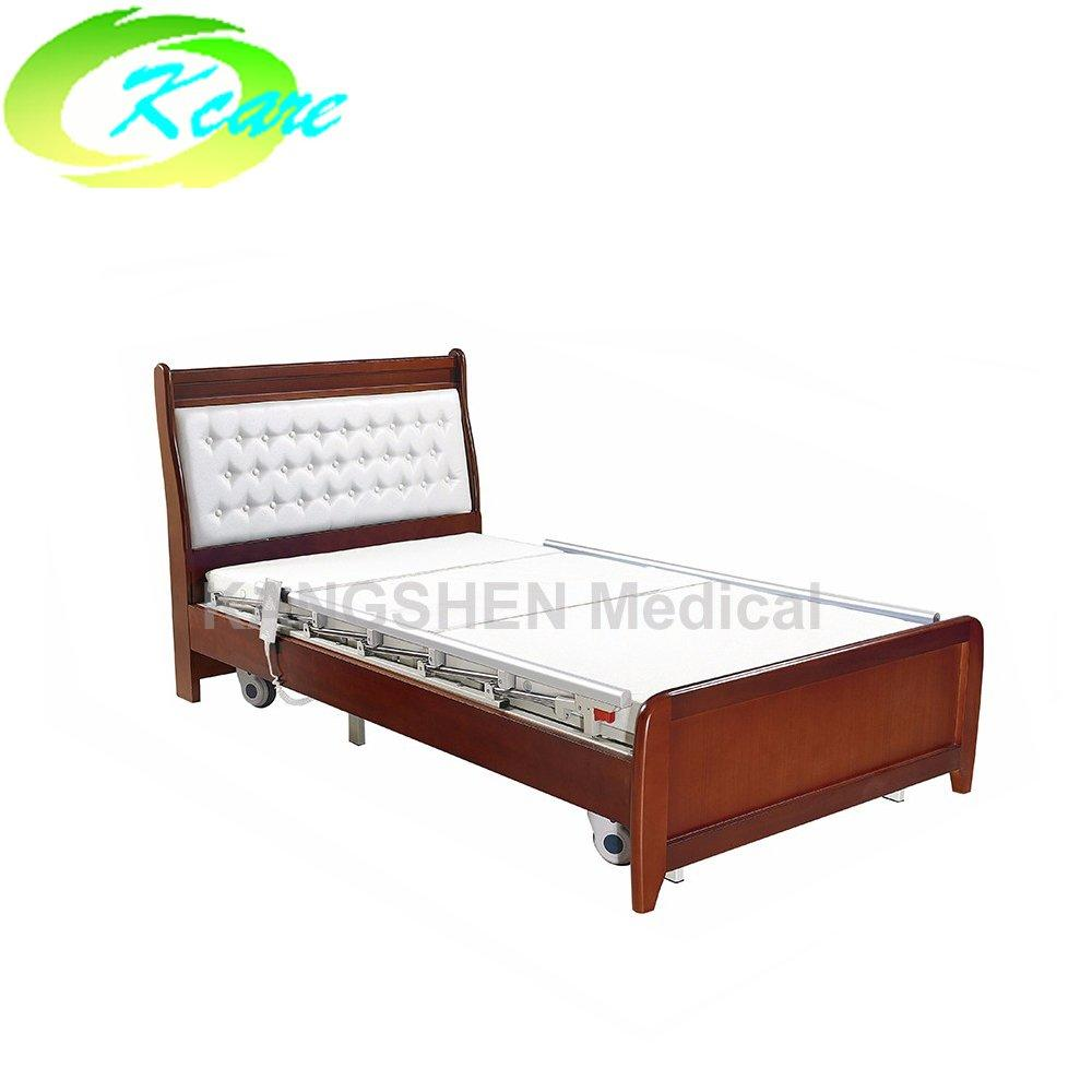 Deluxe solid wood frame electric 3 function elderly home care bed GS-806
