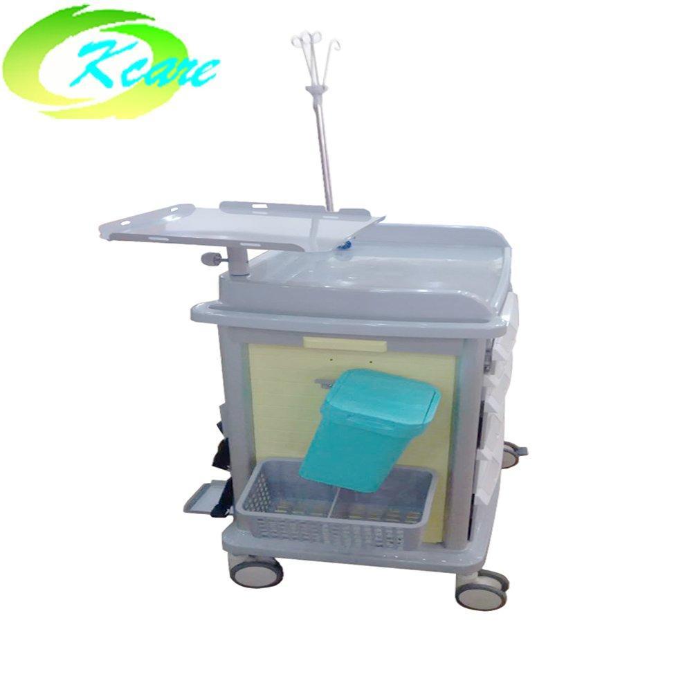 ABS  crash cart medical trolley for hospital /clinic KS-860CH-2