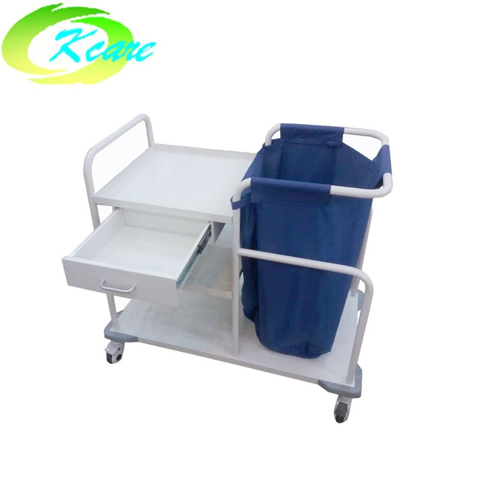 hospital steel clean linen trolley with single drawer for sale KS-B35