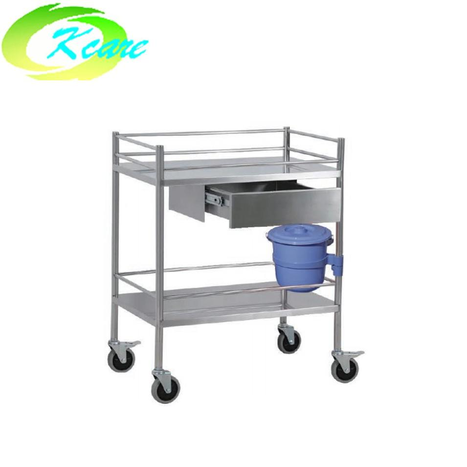 Stainless steel hospital treatment medicine service trolley with single cabinet KS-B24