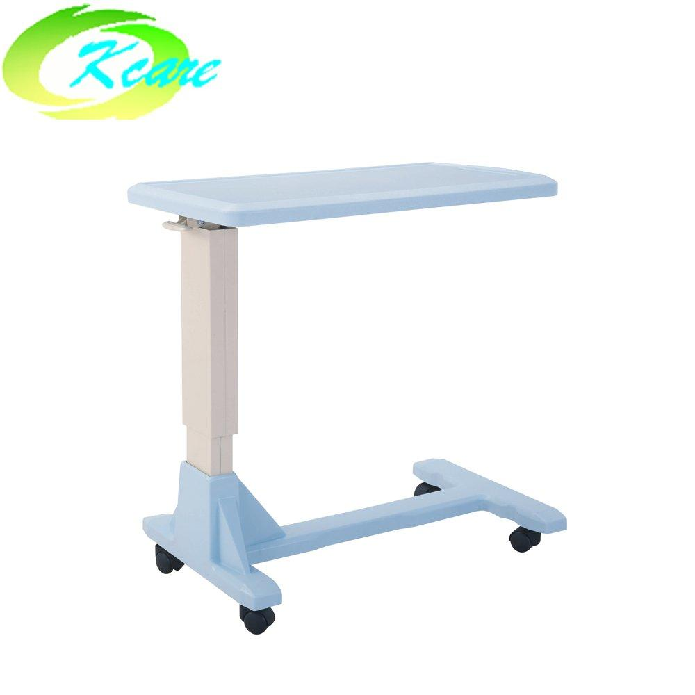 Adjustable hi-lo height abs plastic hospital over-bed table KS-D05x