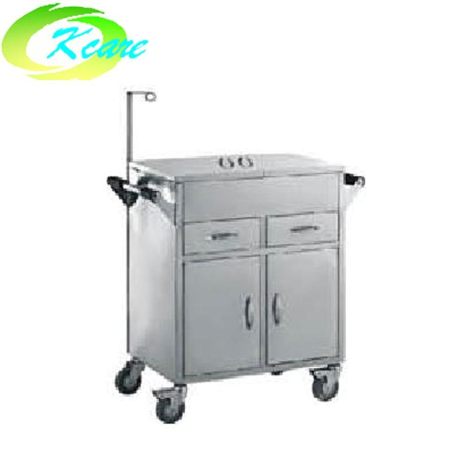 Stainless steel hospital emergency trolley KS-B26