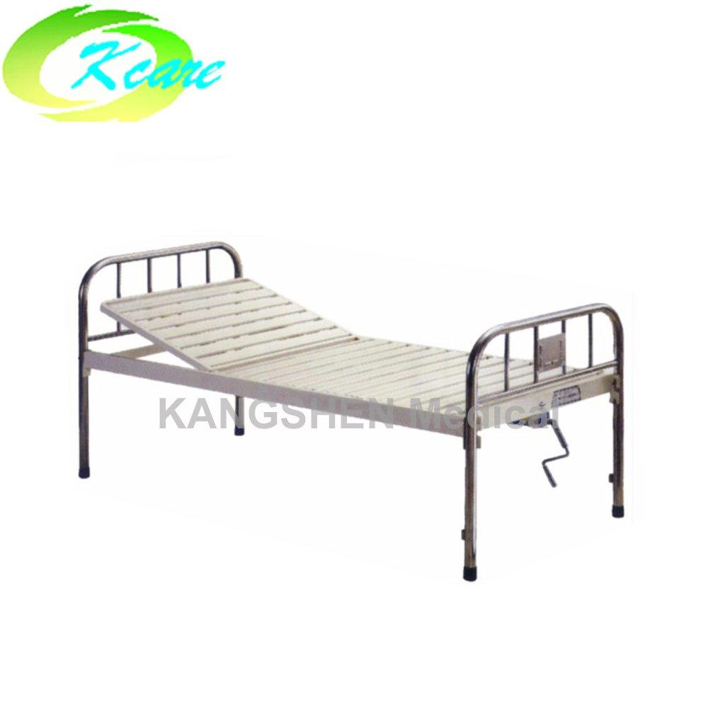 S.S. head and foot board steel one-crank hospital bed KS-215