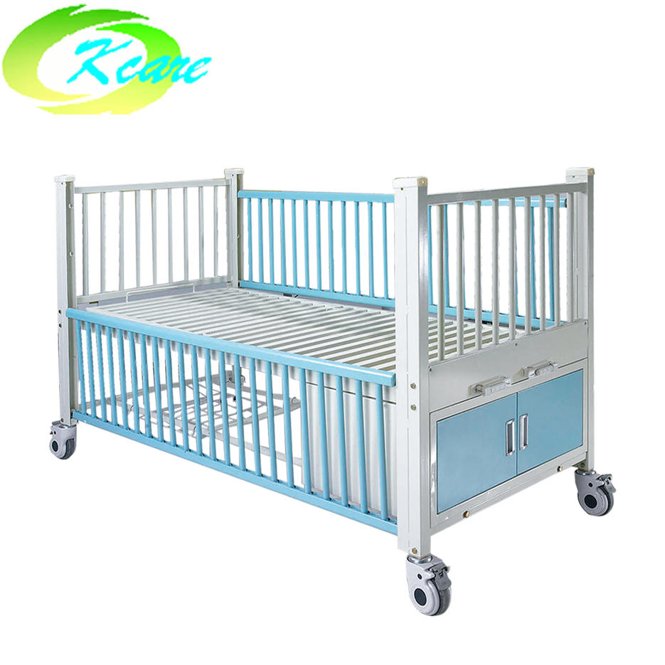 Two-function manual hospital children bed with 2 crank KS-S205et