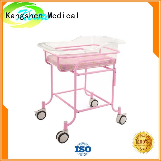 Kangshen Medical luxury hospital baby bed folded steel hospital