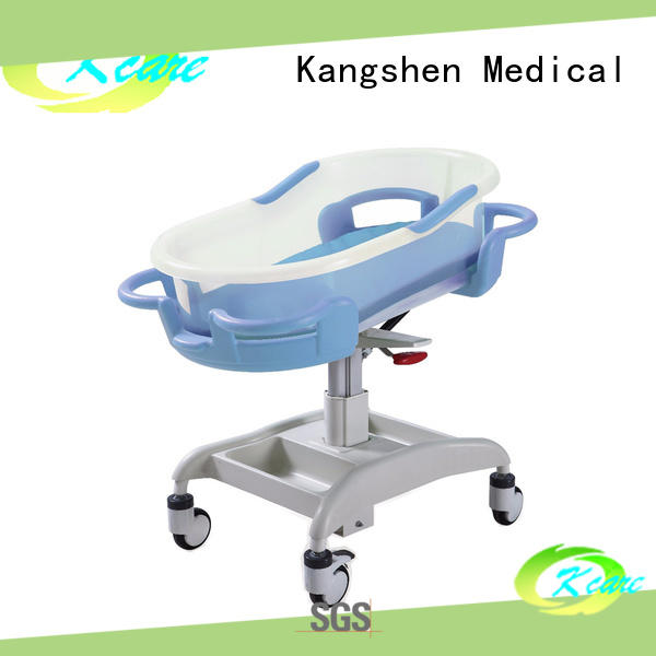 three-functions hospital baby cot folded steel dining table Kangshen Medical