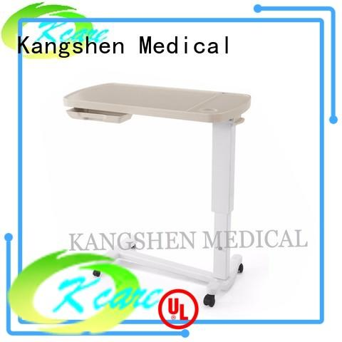 Kangshen Medical abs over bed tray table folded steel for patient