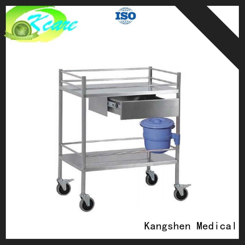 stainless steel medical carts on wheels with drawers recycling multi-functional for infirmary
