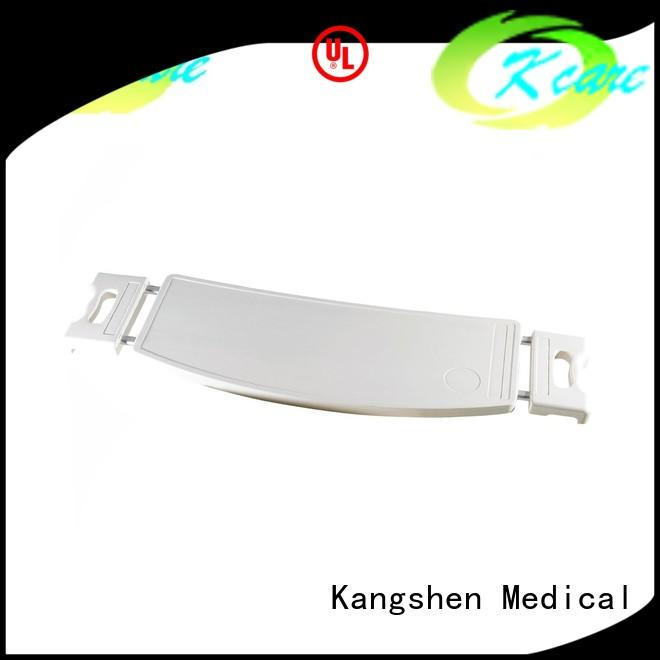 Kangshen Medical with wheels hospital bed tables adjustable folded steel for patient