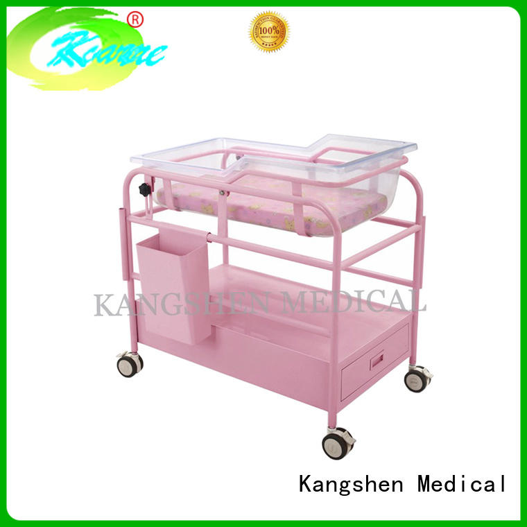 Kangshen Medical with wheels hospital baby cot top quality hospital