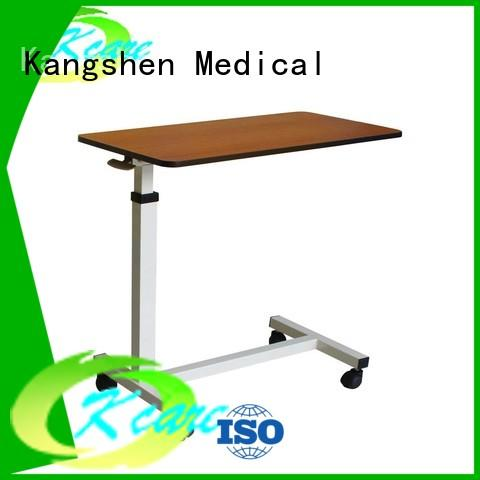 Kangshen Medical abs wooden overbed table medical equipment for patient