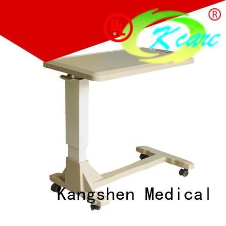 hospital overbed table adjustable dining table Kangshen Medical