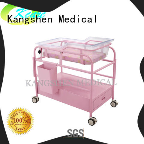 desktop hospital baby bed crib plywood dining table