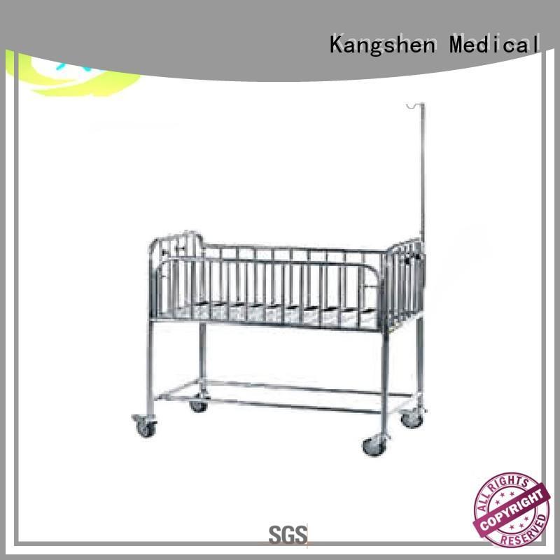 Kangshen Medical popular hospital baby cot folded steel hospital