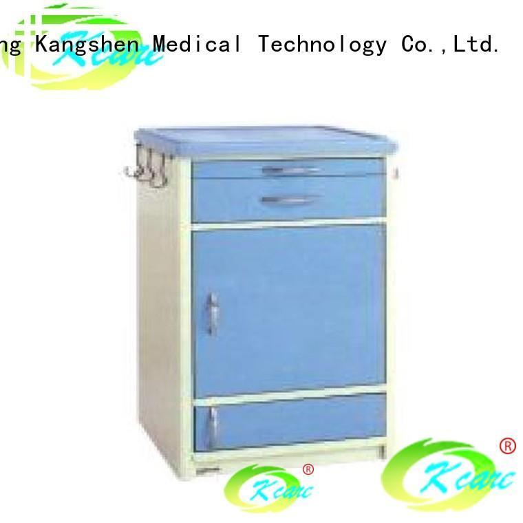 Kangshen Medical 4 drawer bedside table sponge for customization