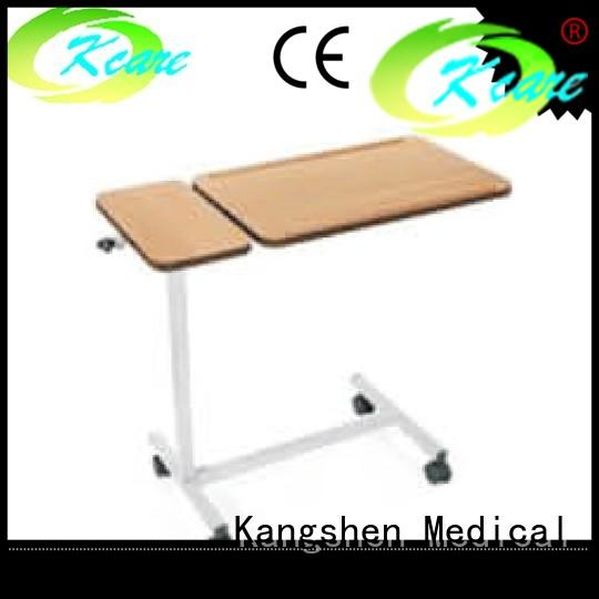 Kangshen Medical adjustable over bed tray table top quality hospital