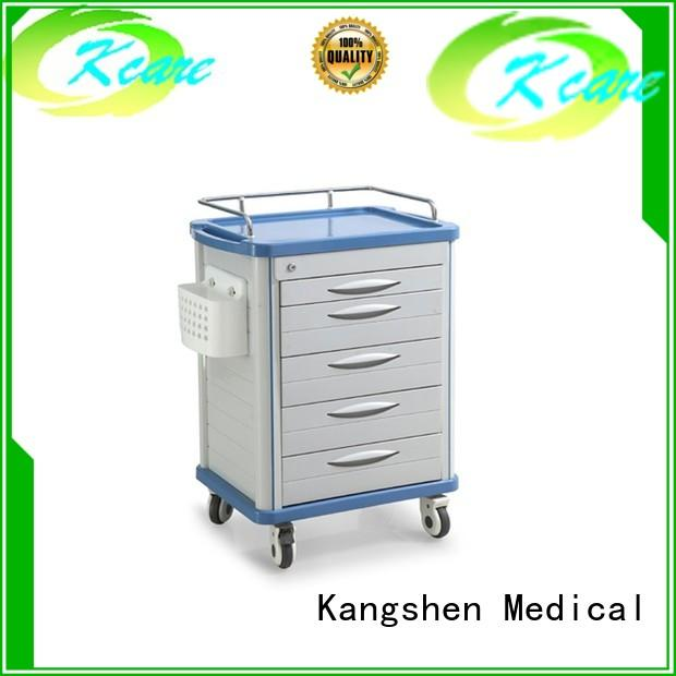 cart emergency abs hospital Kangshen Medical Brand medical trolley with drawers supplier