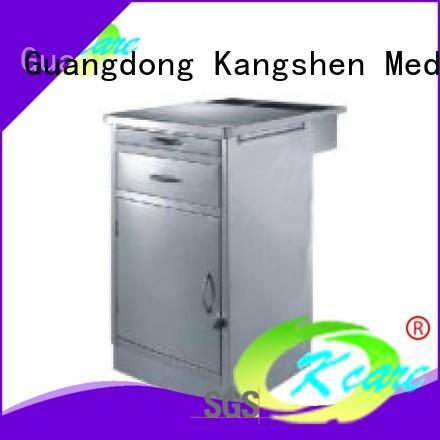 Kangshen Medical alternating pressure medical bedside tables with drawers four-wheel for customization